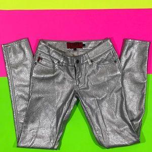TRIPP NYC Shiny Silver PVC PU Pants